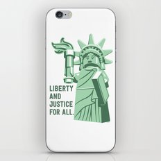 Liberty and Justice iPhone & iPod Skin
