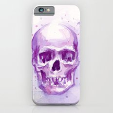 Pink Skull Watercolor Purple Abstract Slim Case iPhone 6s