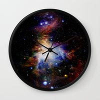 nebula Wall Clocks featuring Orion NebulA Colorful Full Image by 2sweet4words Designs