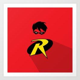 Robin Super Hero Art Print