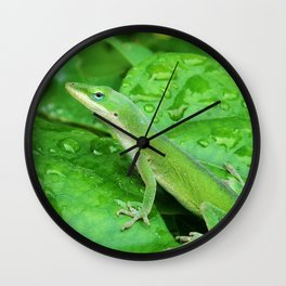 Mr. Lizard is Watching You Wall Clock