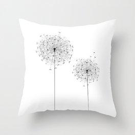 Two  Dandelion Throw Pillow