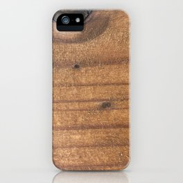 Wood you care too? iPhone Case