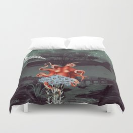 Under the Deep Blue Sea Duvet Cover