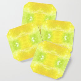 """""""Lemon jello"""" triangles design Coaster"""