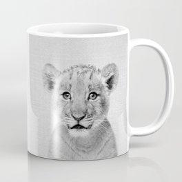 Baby Lion - Black & White Coffee Mug