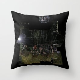 Ashen Moon Throw Pillow