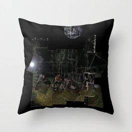 Ashen Moon Throw Pillow