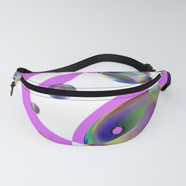 Pink Circles and Bubbles Fanny Pack
