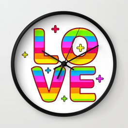 LGBT, Gay and Lesbian Quotes, Designs of Rainbows Flags and Hearts (28) Wall Clock