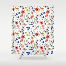 Wildflowers Pattern Shower Curtain