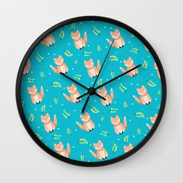 Kawaii Fox Wall Clock