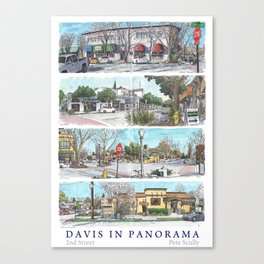Davis Panorama Poster: 2nd St Canvas Print
