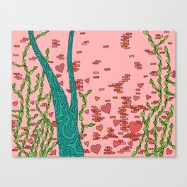 #102: Heart Wall Canvas Print