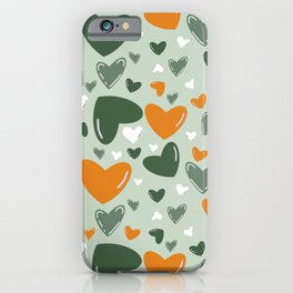 St. Patrick's Day Hearts Pattern iPhone Case