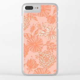 Romantic flowers Clear iPhone Case