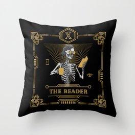 The Reader X Tarot Card Throw Pillow