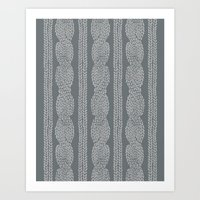 Cable Greys Art Print