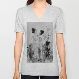 Conversation, drawing Unisex V-Neck