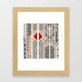 Tribal ethnic geometric pattern 034 Framed Art Print