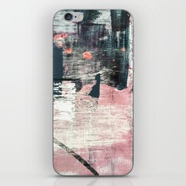 Sweet tooth [7]: a colorful abstract mixed media piece in pink, blues, and white iPhone Skin