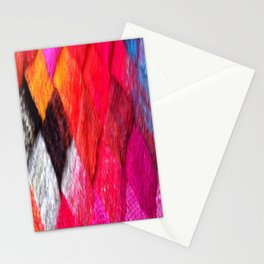 Red Entrelac Stationery Cards
