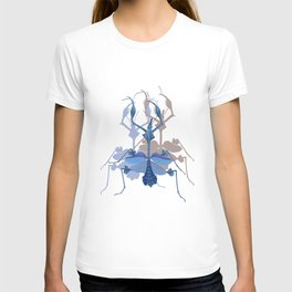 Beautiful Blue Insect T-shirt