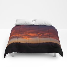 Desert Sky on Fire Comforters