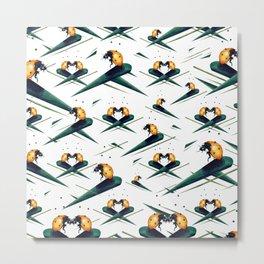 Bugs in Love (Pattern) Metal Print