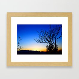 View From The Top (of The Great Wall of China) Framed Art Print