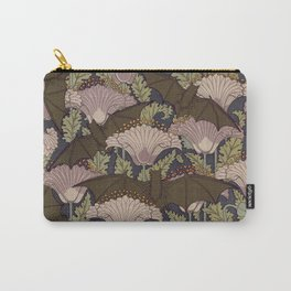 Vintage Art Deco Bat and Flowers Carry-All Pouch