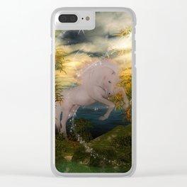 Einhorn im Wald Clear iPhone Case