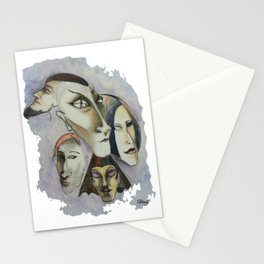 Strange Faces Stationery Cards