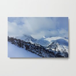 mountains under snow Metal Print