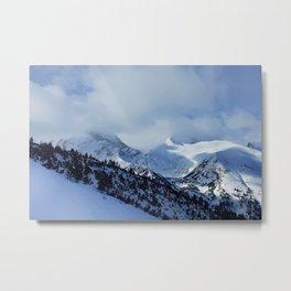 mountains under snow Metal Print