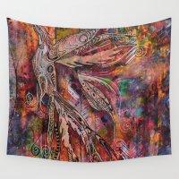 phoenix Wall Tapestries featuring Phoenix by Karen Mosbacher