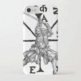 VomTag. Medieval Renaissance Swordsman iPhone Case