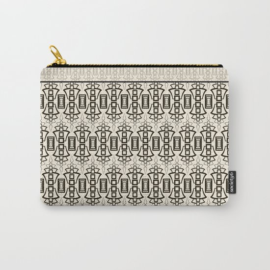 Art Deco . Black and beige combination pattern . Carry-All Pouch