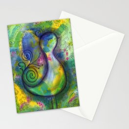 """""""A Perfect Day""""   original painting by Mimi Bondi Stationery Cards"""