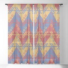 Aztec Zigzag Sheer Curtain