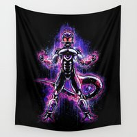 vegeta Wall Tapestries featuring The Ultimate Evil Lord by Barrett Biggers