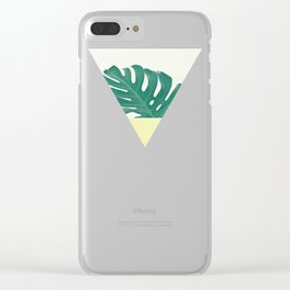 Monstera Dip II Clear iPhone Case