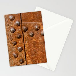 Rusty metal wall surface Stationery Cards
