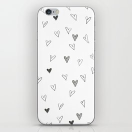 Ink hearts pattern iPhone Skin