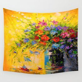 Bouquet of meadow flowers Wall Tapestry