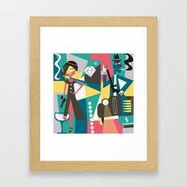 bonny and clyde grey Framed Art Print