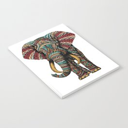 Ornate Elephant (Color Version) Notebook