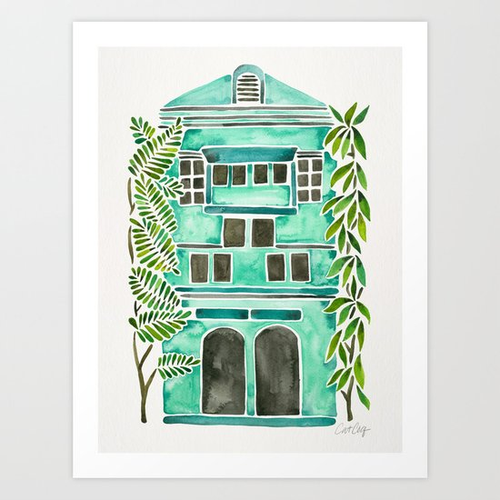 The Grotto – Mint Palette Art Print