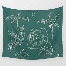 Dreamers no.1 (emerald) Wall Tapestry
