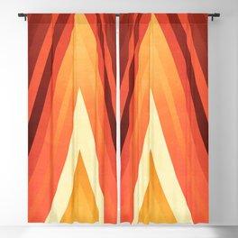 stripes wave pattern 6 dy Blackout Curtain